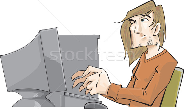 Computer problem Stock photo © davisales