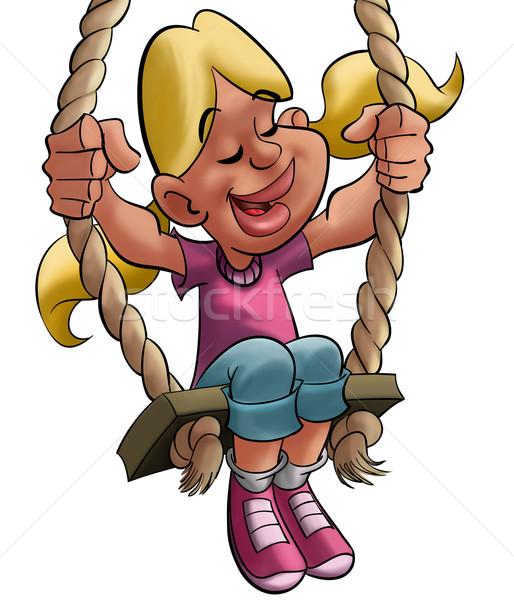 girl enjoying a balance Stock photo © davisales