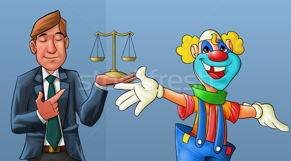 clown and lawyer Stock photo © davisales