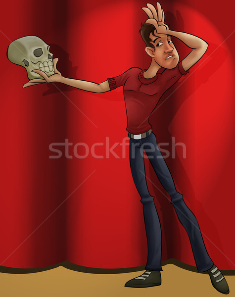 actor playing hamlet Stock photo © davisales