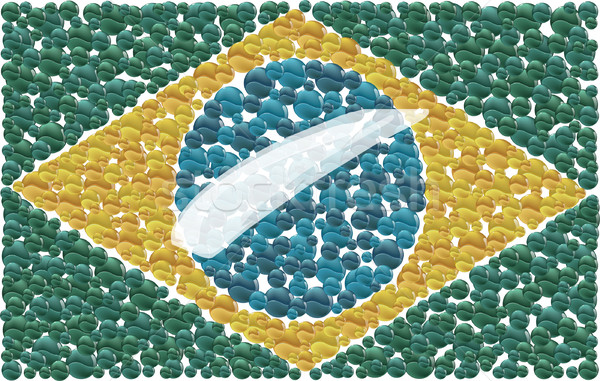 Banderą mały kubek naród Zdjęcia stock © davisales