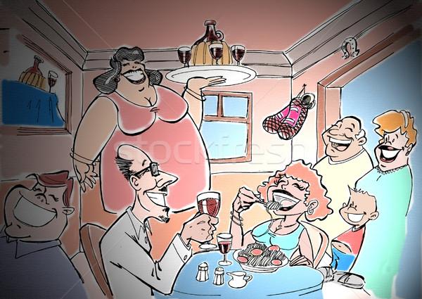 Ristorante italiano ristorante cena pasta mangiare data Foto d'archivio © davisales