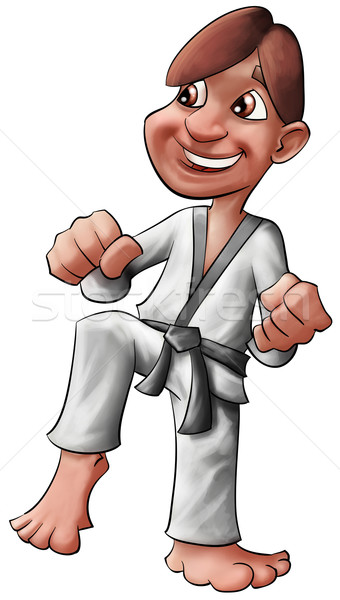 karate kid Stock photo © davisales