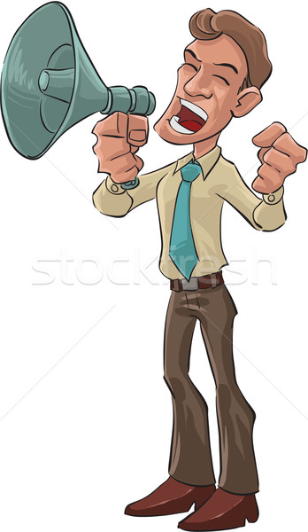 angry with a megaphone Stock photo © davisales