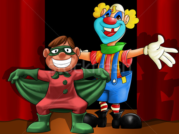 Clown mini héros ami souriant sourire Photo stock © davisales