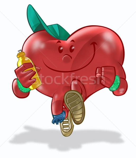 Saúde coração corrida homem esportes Foto stock © davisales