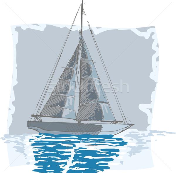żaglówce morza noc niebo lata niebieski Zdjęcia stock © davisales