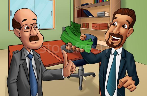 Dwóch mężczyzn biuro człowiek działalności korupcja ceny Zdjęcia stock © davisales