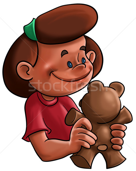 Stock photo: The girl and the teddy bear