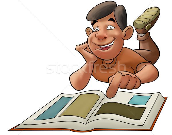 Garçon lecture livre école enfant Photo stock © davisales