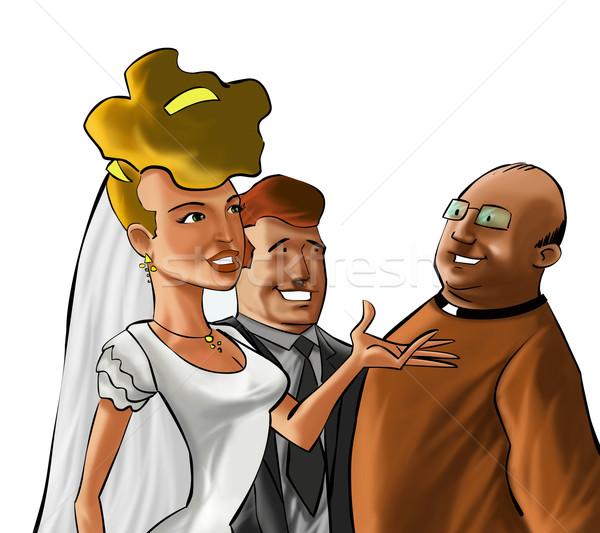 The couple and the preacher Stock photo © davisales