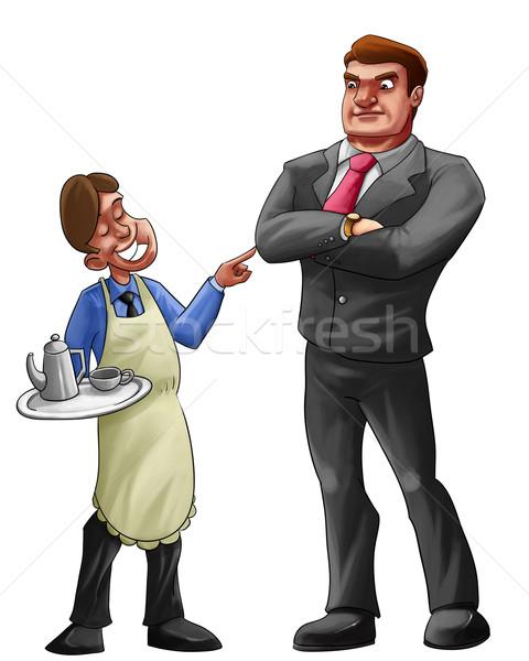 Aider patron employeur café pas main Photo stock © davisales