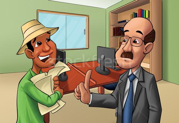 Bałagan kart dwie osoby wiele jeden biuro Zdjęcia stock © davisales