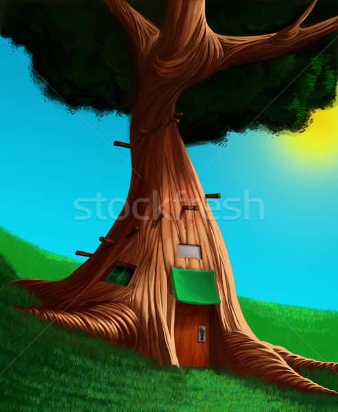 The house in a tree Stock photo © davisales