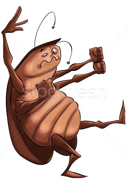 Hamamböceği kanatlar korku karikatür böcek böcek Stok fotoğraf © davisales
