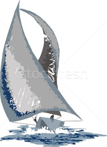Barco veleiro céu verão azul navio Foto stock © davisales
