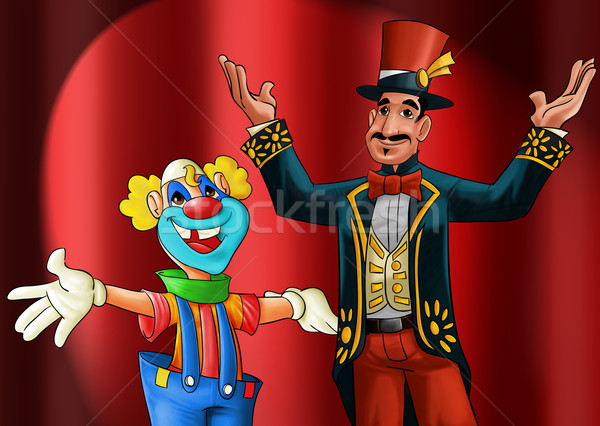 entertainer and clown Stock photo © davisales