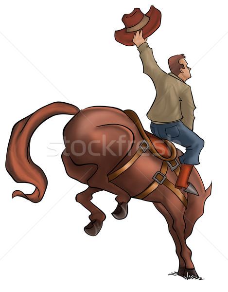 Bucking Rodeo Horse Stock photo © davisales