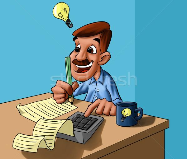 Simulateur homme heureux magnifique idée Photo stock © davisales