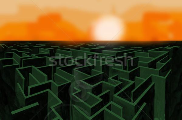 labyrinth Stock photo © davisales