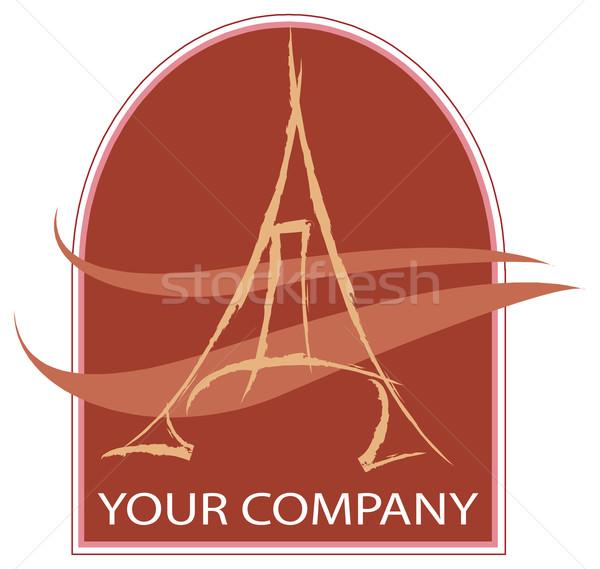 Eiffel logo Eiffel-torony cég üzlet pénz Stock fotó © davisales