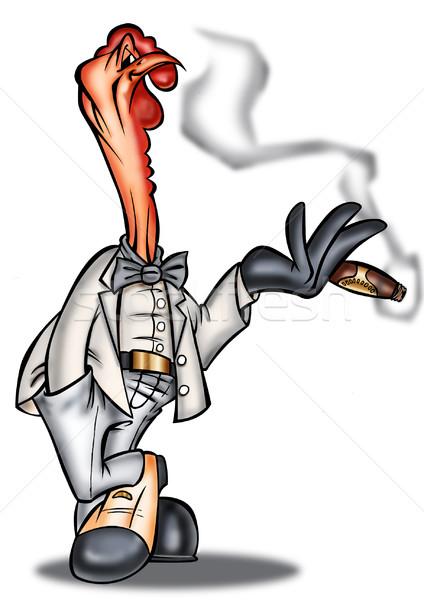 Turcja palenia cygara działalności strony ptaków Zdjęcia stock © davisales
