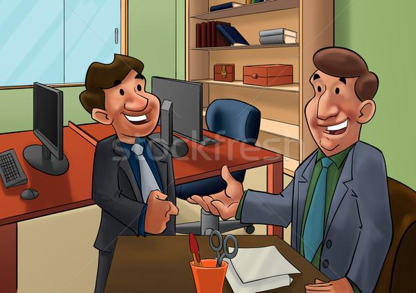 Entrevista de emprego executivo falante trabalhador candidato negócio Foto stock © davisales