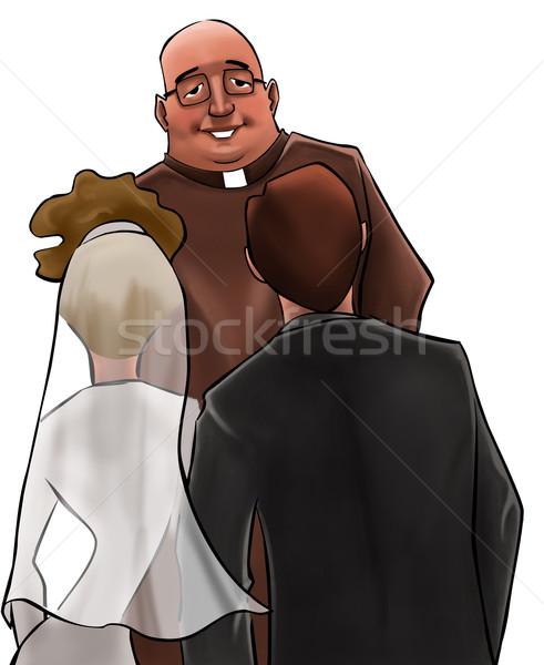 The priest in a wedding ceremony Stock photo © davisales