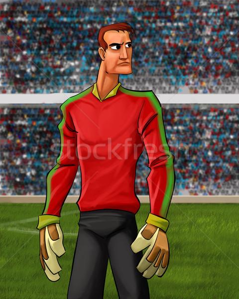 the goal keeper Stock photo © davisales