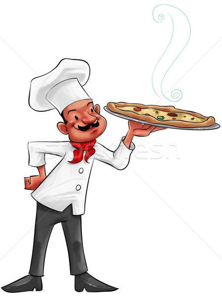 the pizza man Stock photo © davisales