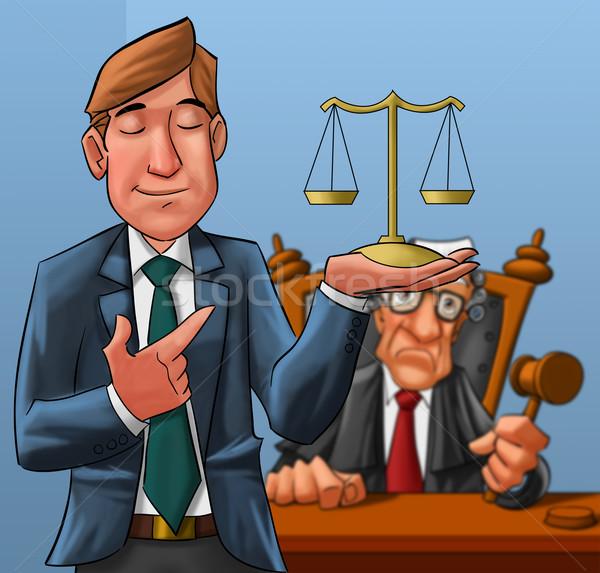 lawyer and judge Stock photo © davisales