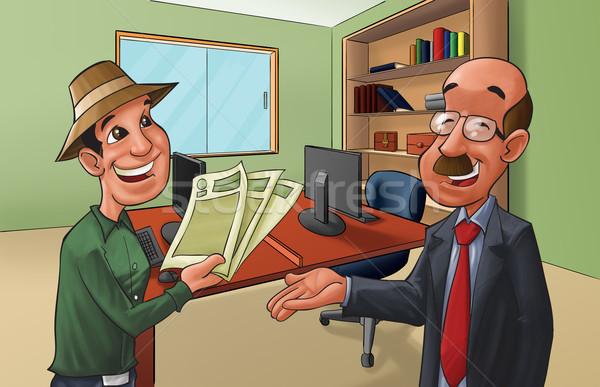Georganiseerd cliënt deal alle papieren kantoor Stockfoto © davisales