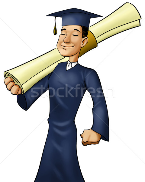 big diploma Stock photo © davisales