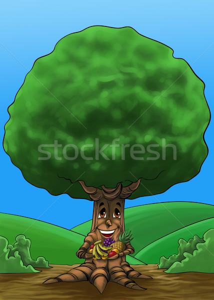 Választék gyümölcsfa fa gyümölcsök kéz tavasz Stock fotó © davisales