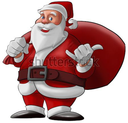 hang loose santa claus Stock photo © davisales