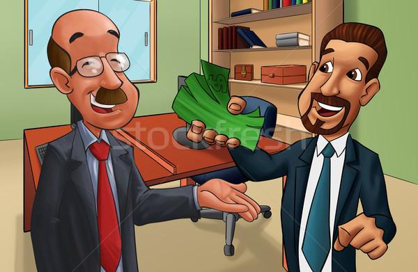 Człowiek działalności korupcja ceny bezpieczeństwa prawa Zdjęcia stock © davisales