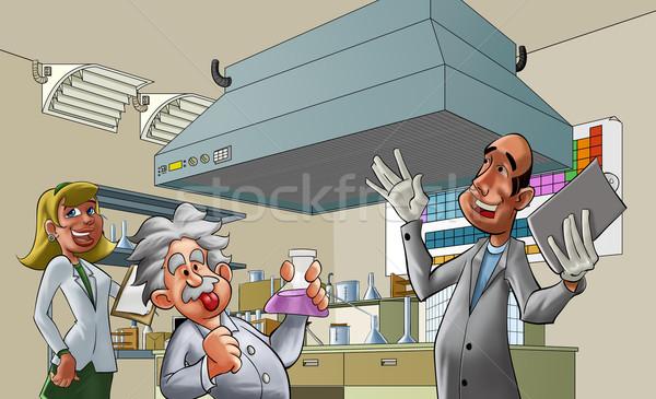 Laboratorium medycznych pokój kobieta biuro Zdjęcia stock © davisales