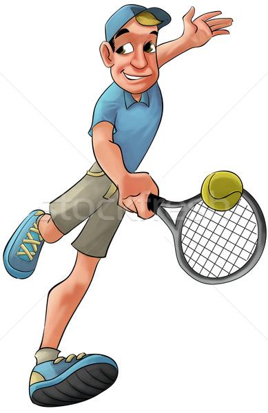 tennis player Stock photo © davisales