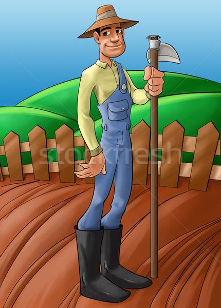 farmer in a planted soil Stock photo © davisales
