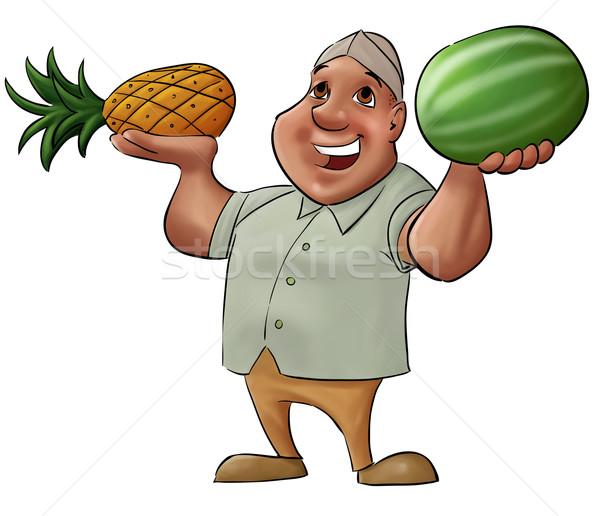 fruit vendor Stock photo © davisales
