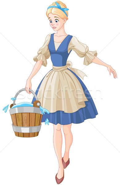 Cinderella Holds a Bucket Stock photo © Dazdraperma