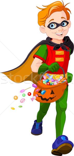 Halloween Super Boy  Stock photo © Dazdraperma