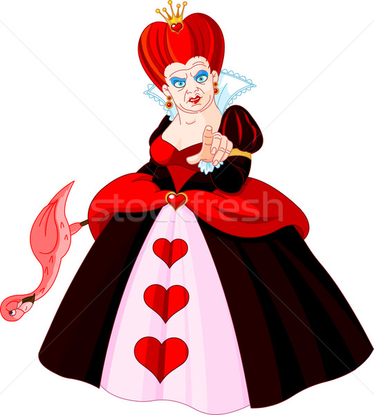Angry Queen of Hearts Stock photo © Dazdraperma
