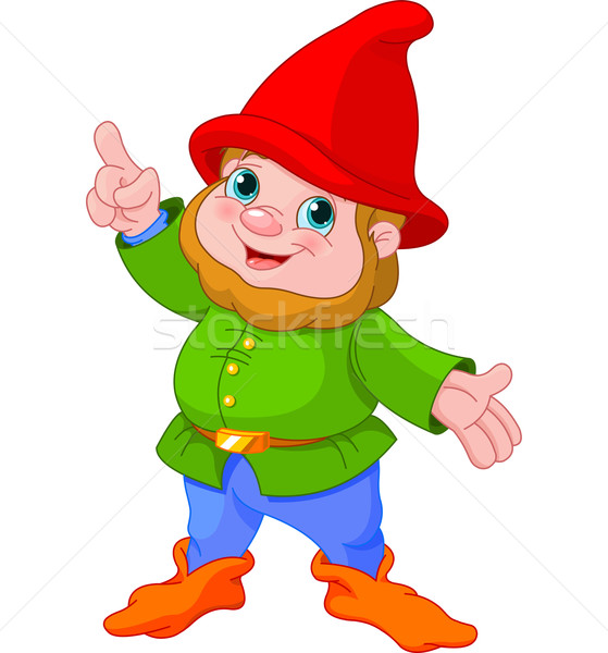 Cute Gnome presenting Stock photo © Dazdraperma