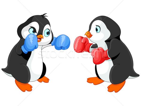 Penguin Boxing Stock photo © Dazdraperma