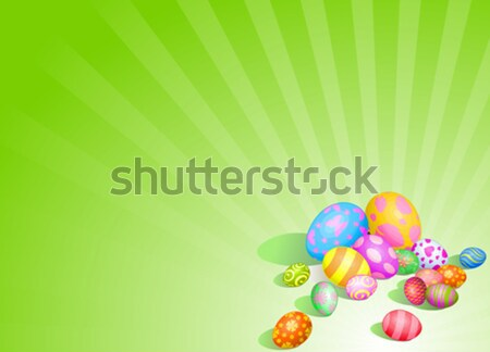 Stock photo: Beautiful Easter eggs background