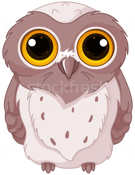 Cute owlet Stock photo © Dazdraperma