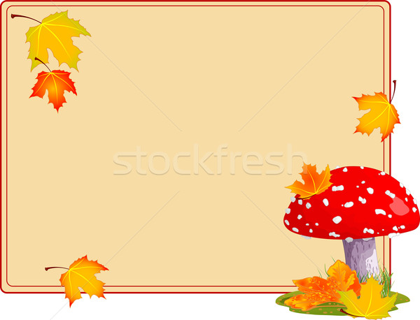 Fly agaric autumn background Stock photo © Dazdraperma
