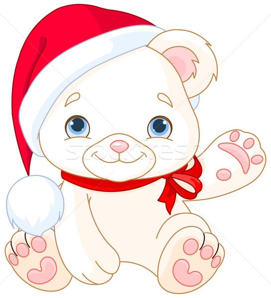 Christmas Polar Bear  Stock photo © Dazdraperma