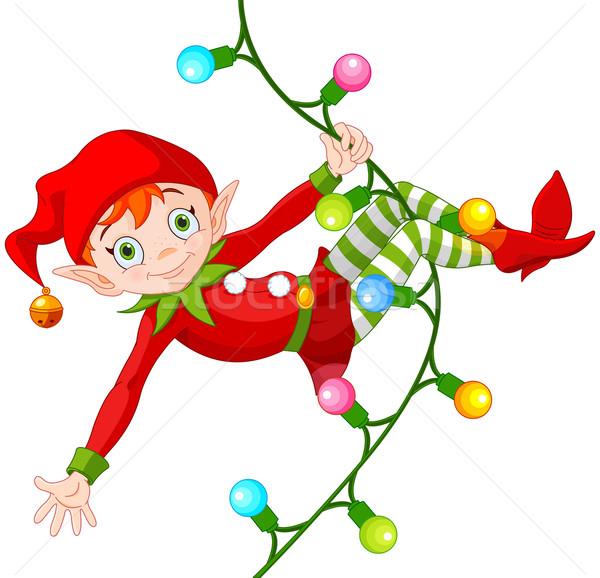 Stock photo: Christmas Elf on Garland